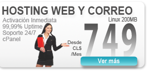 Hosting Web desde CL$ 749 mensual