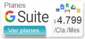 Correos G Suite Desde $33.000/Año