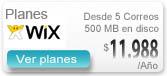 Correos Wix - Correos con sitio web en otra empresa